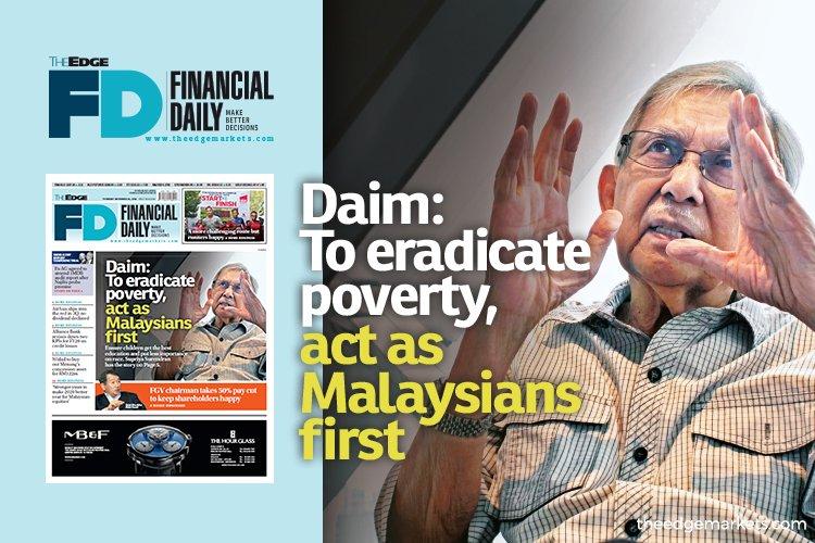 敦达因:要消贫 国人要以马来西亚人居先